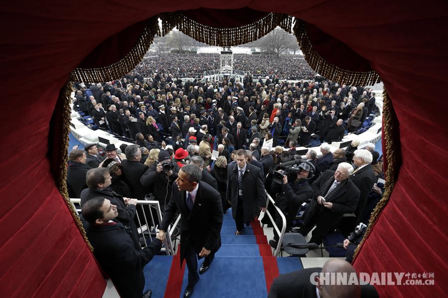那些年,美国总统就职典礼上的精彩瞬间[1]- 中国日报网