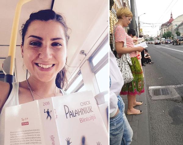 罗马尼亚一城市允许看书的乘客免费乘公交 鼓励人们多阅读