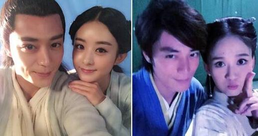 图片2:霍建华与赵丽颖,陈乔恩亲密合照图片