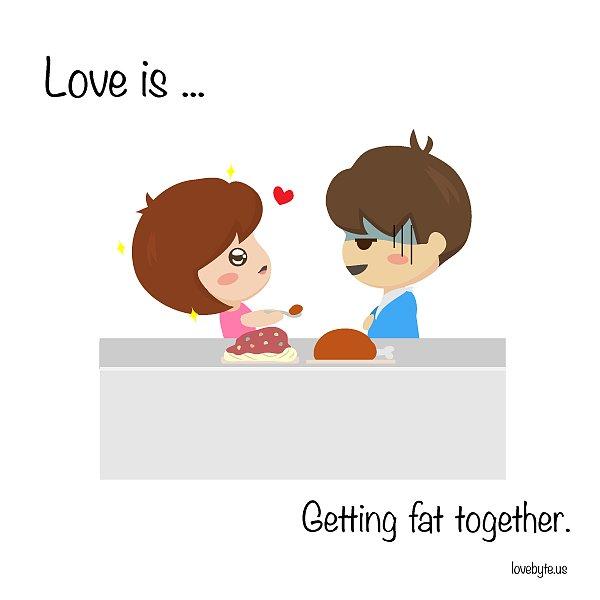 """可爱漫画讲述""""爱是什么"""""""