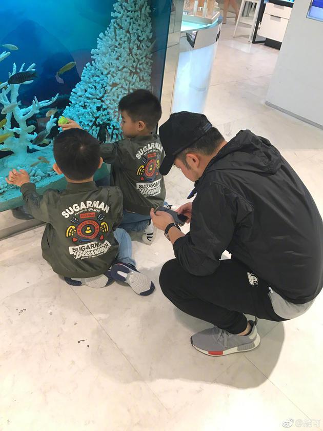 中国小孩子搞笑视频_胡可晒照沙溢安吉小鱼儿排排蹲 网友:仨傻儿子[1]- 中国日报网