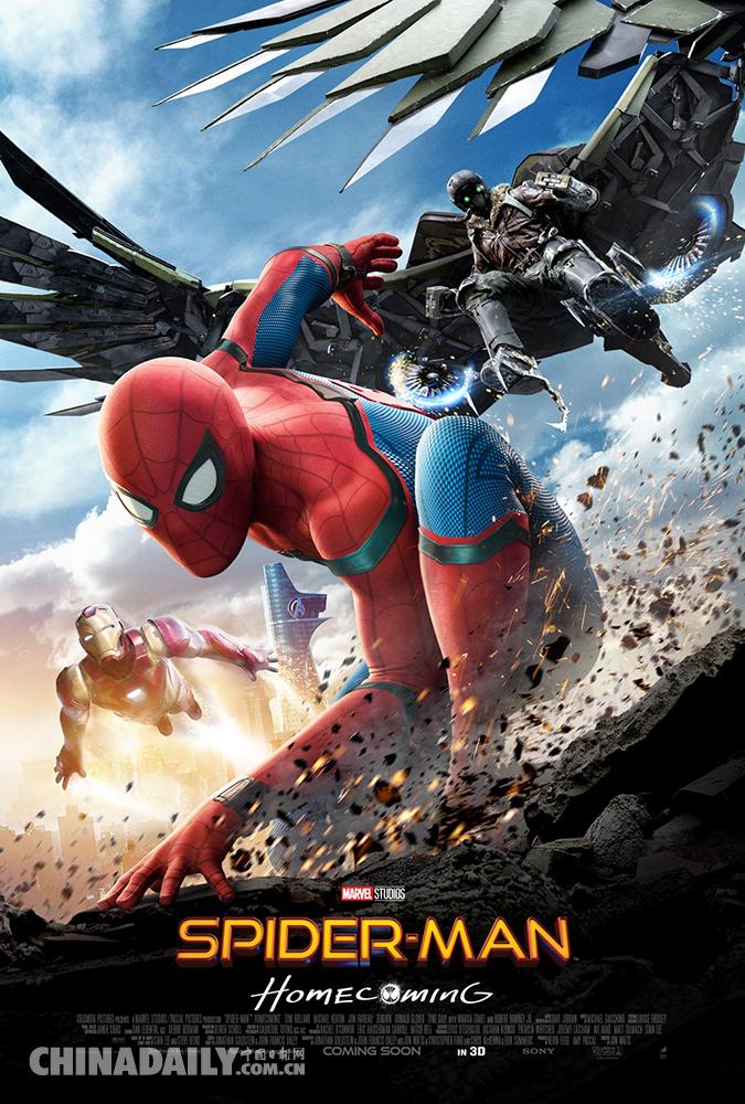《蜘蛛侠:英雄归来》全新预告&海报齐发 钢铁侠抢尽风