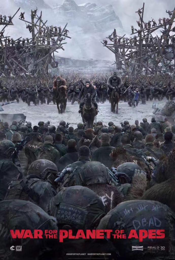 《猩球崛起3》新混剪视频追忆凯撒成长史