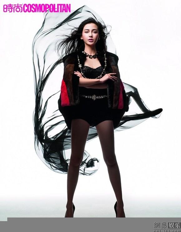 angelababy登时尚杂志封面展多面风情