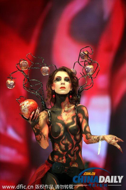 国际美博会开幕 人体艺术展唯美个性[3]