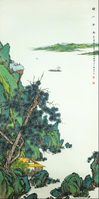 世界 刘艳会新青绿山水画作品欣赏